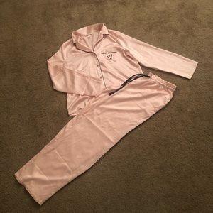 Victoria's Secret Satin Pajama Set Size Medium